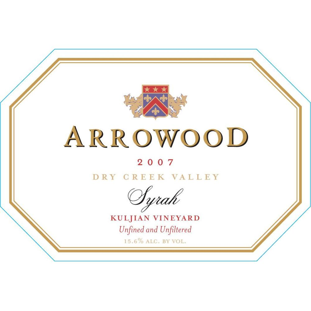 Arrowood Kuljian Dry Creek Syrah 2007 Front Label