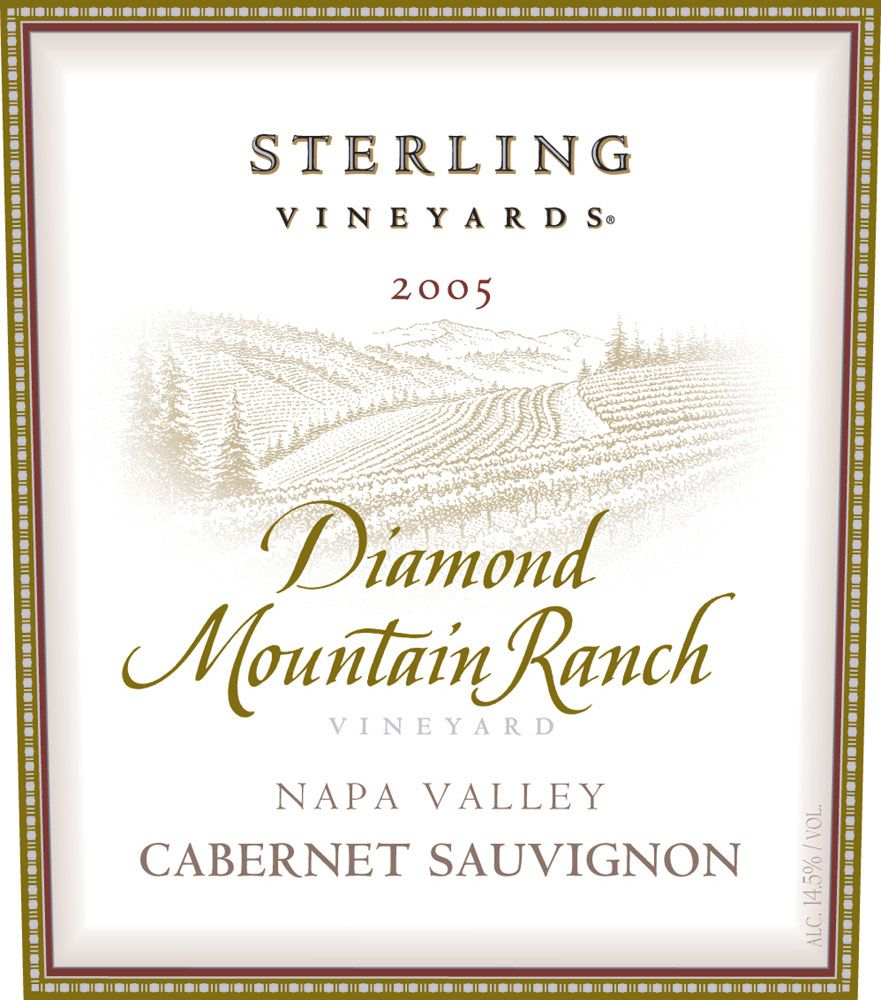 Sterling Diamond Mountain Ranch Cabernet Sauvignon 2005 Front Label