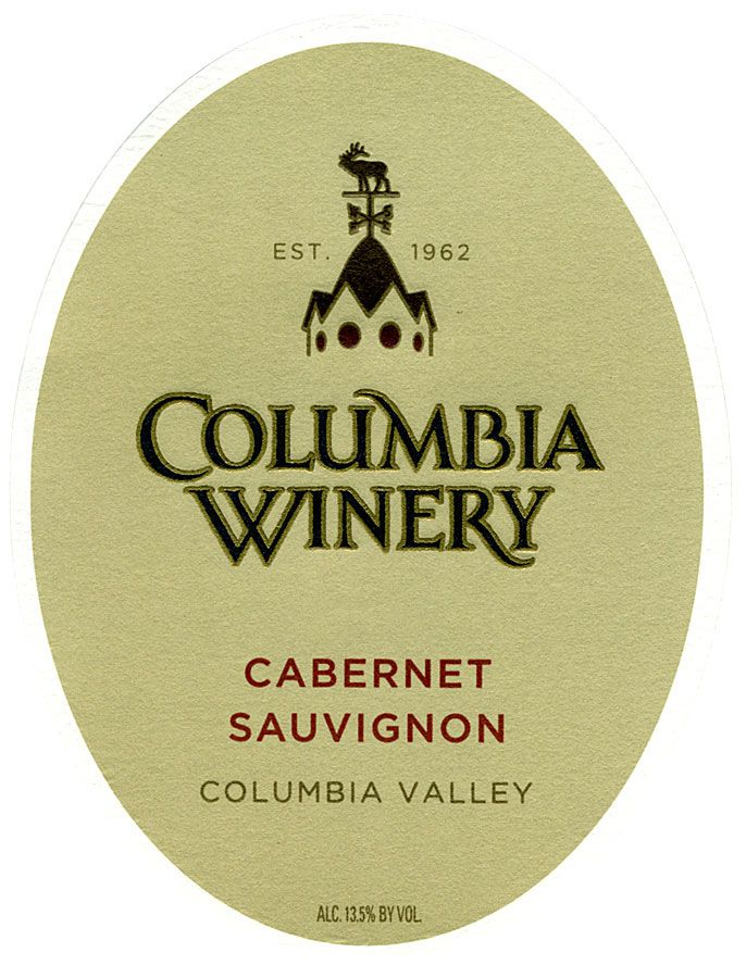 Columbia Winery Cabernet Sauvignon 2008 Front Label