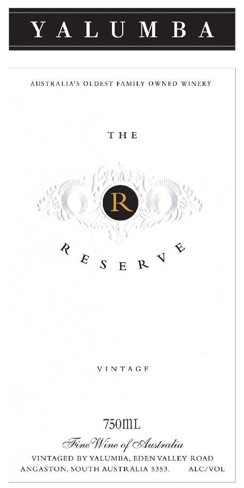 Yalumba The Reserve 2002 Front Label