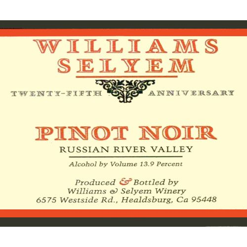 Williams Selyem Russian River Valley Pinot Noir 2008 Front Label