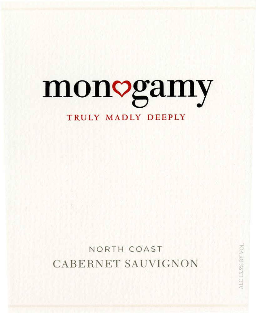 Monogamy Truly Madly Deeply Cabernet Sauvignon 2009 Front Label