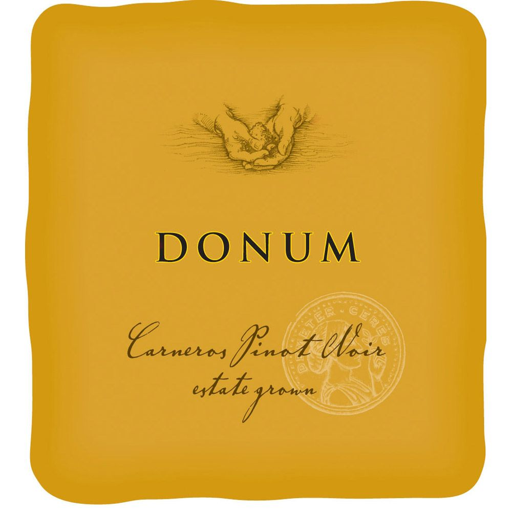 The Donum Estate Carneros Estate Grown Pinot Noir 2007 Front Label