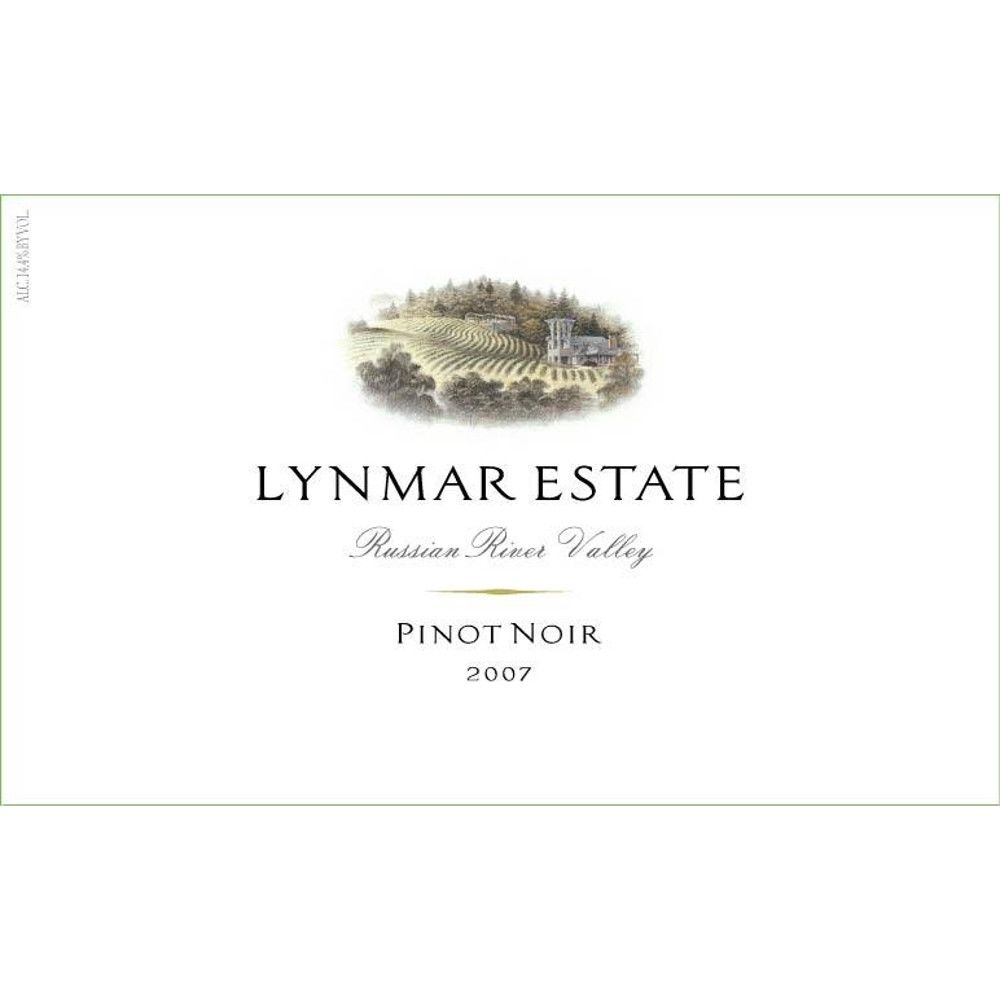 Lynmar Winery Russian River Pinot Noir 2007 Front Label