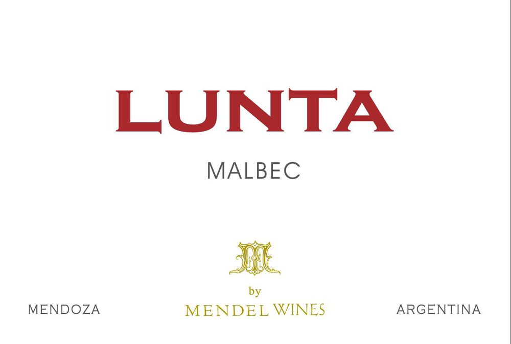 Lunta Malbec 2008 Front Label