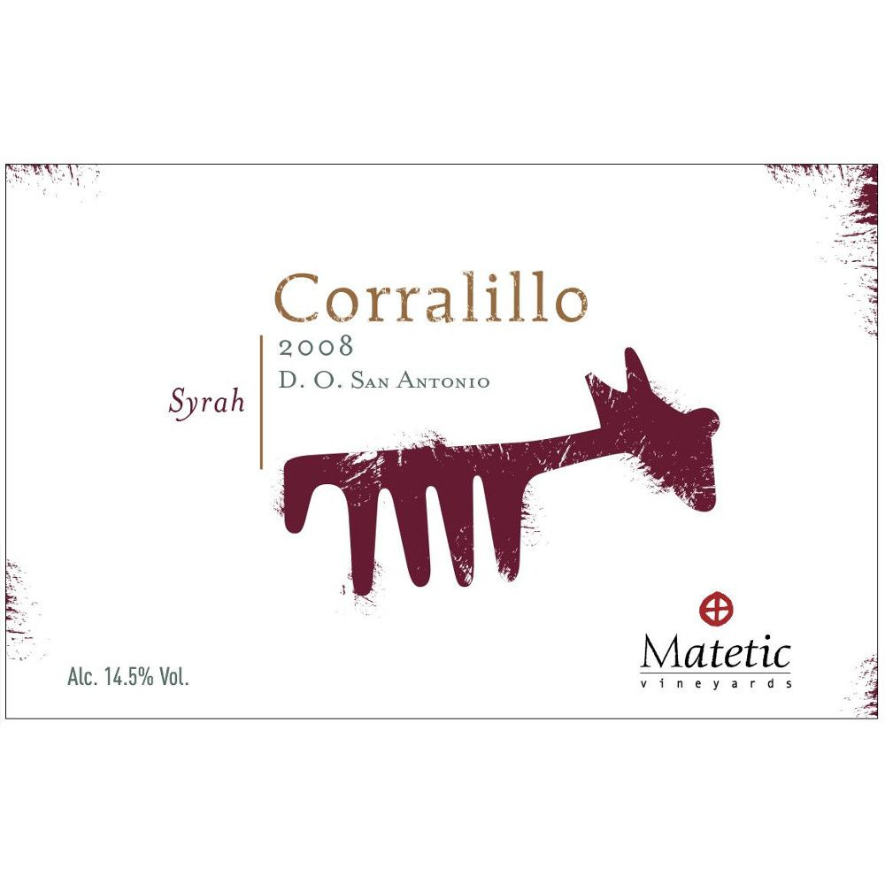 Matetic Corralillo Syrah 2008 Front Label