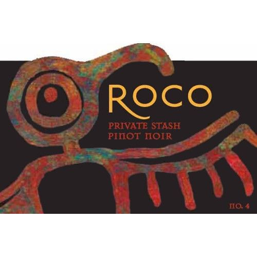 Roco Private Stash Pinot Noir 2008 Front Label