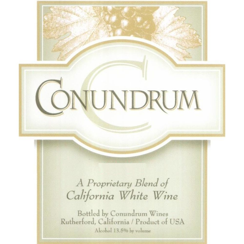 Conundrum White Blend (375ML half-bottle) 2009 Front Label