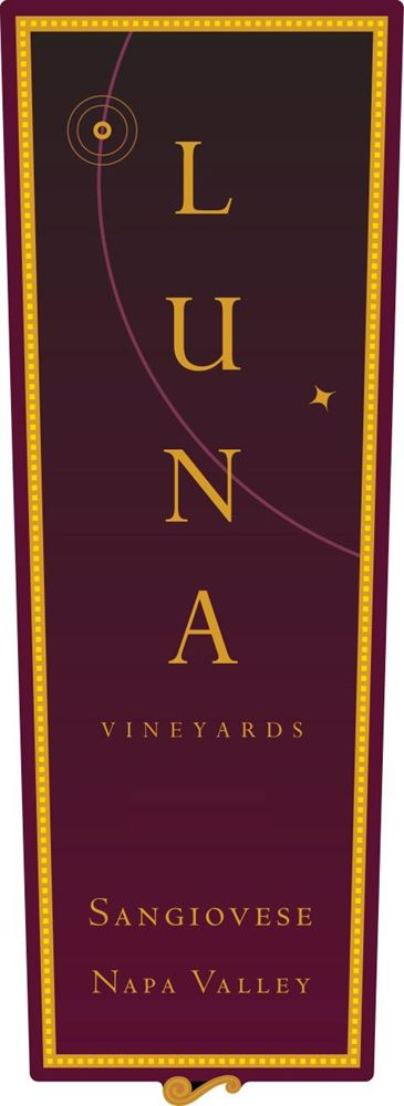 Luna Vineyards Sangiovese 2008 Front Label