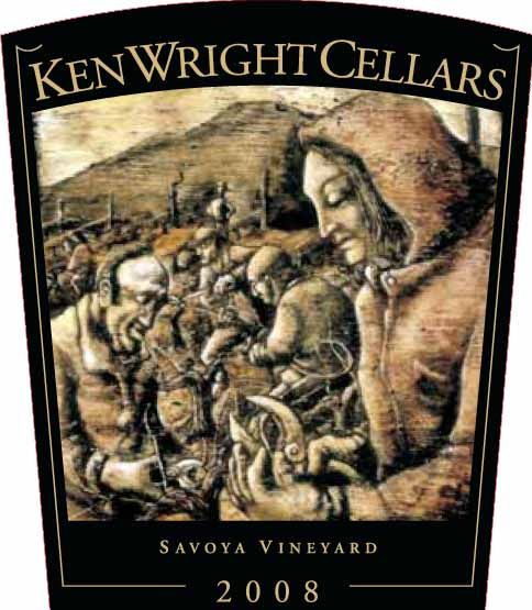 Ken Wright Cellars Savoya Vineyard Pinot Noir 2008 Front Label