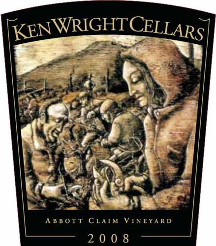 Ken Wright Cellars Abbott Claim Vineyard Pinot Noir 2008 Front Label