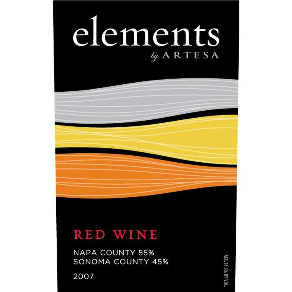 Elements by Artesa Red 2007 Front Label