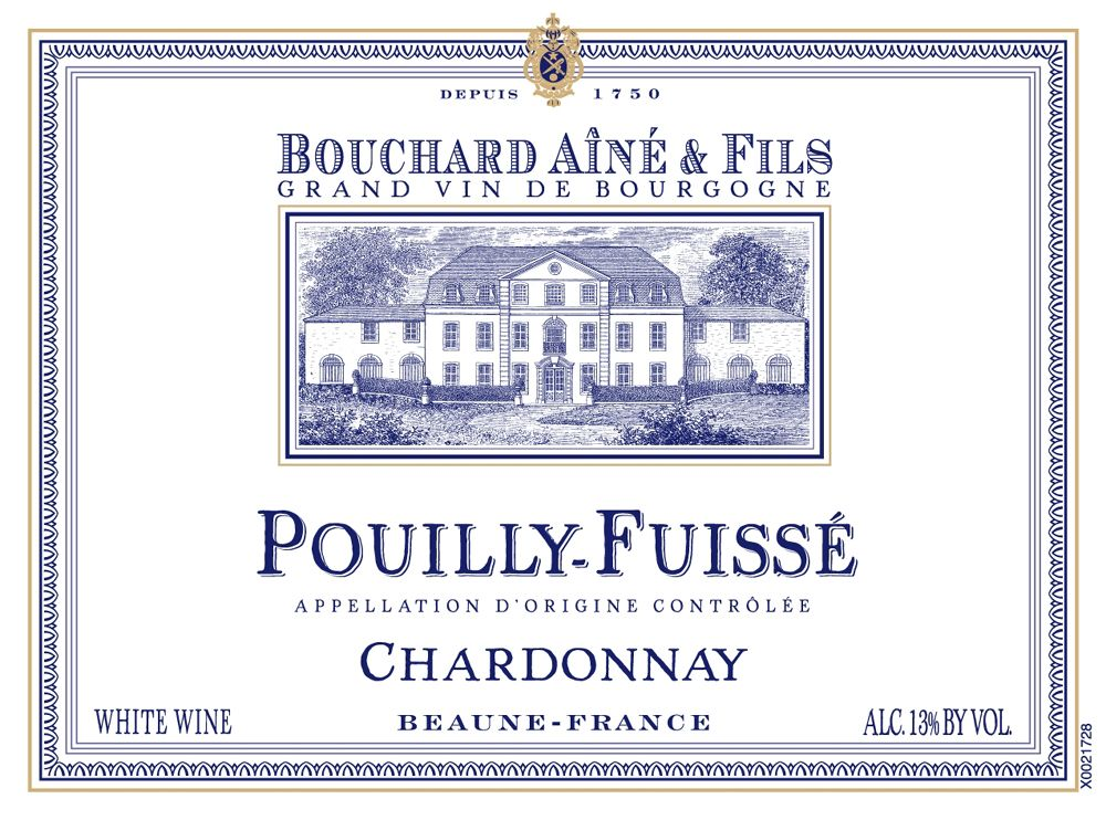 Bouchard Aine & Fils Pouilly-Fuisse 2008 Front Label