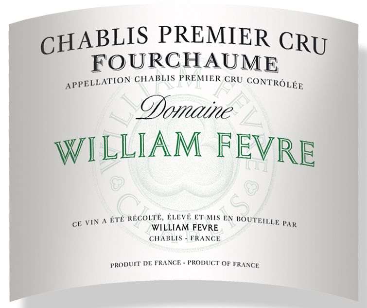 William Fevre Chablis Fourchaume Premier Cru (375ML half-bottle) 2008 Front Label