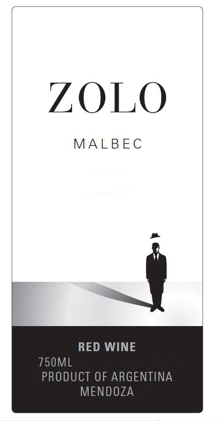 Zolo Malbec 2010 Front Label