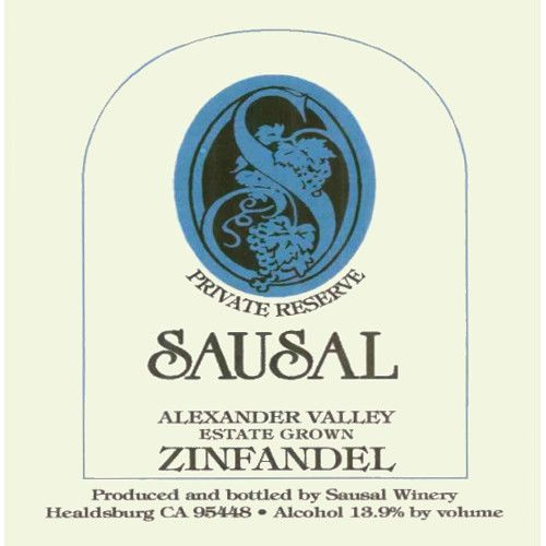 Sausal Winery Private Reserve Zinfandel 2007 Front Label
