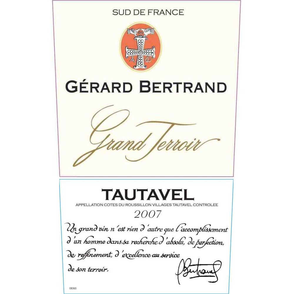 Gerard Bertrand Grand Terroir Tautavel 2007 Front Label