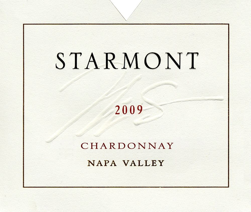 Starmont Chardonnay (375ML half-bottle) 2009 Front Label