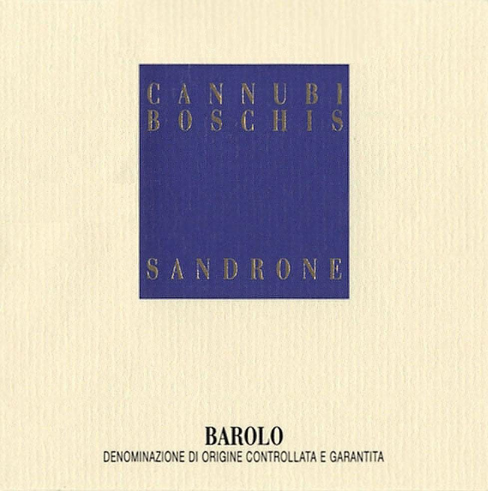 Sandrone Barolo Cannubi Boschis 2005 Front Label