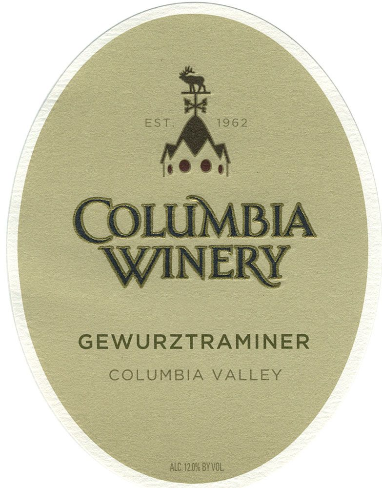 Columbia Winery Gewurztraminer 2009 Front Label