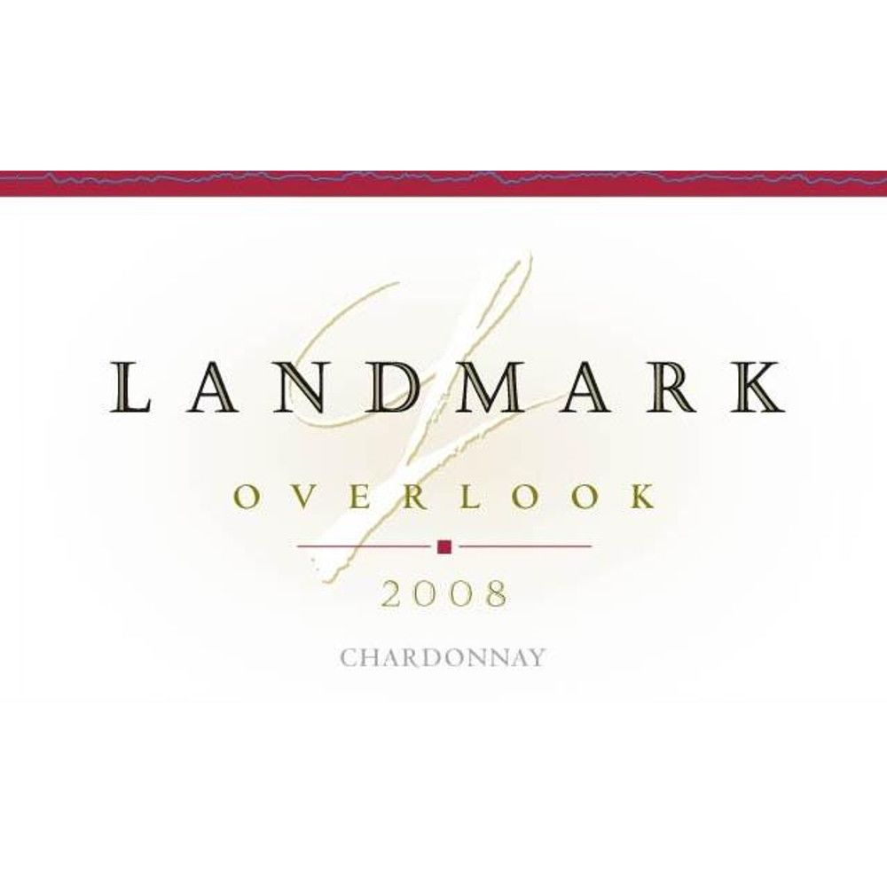 Landmark Overlook Chardonnay (375ML half-bottle) 2008 Front Label