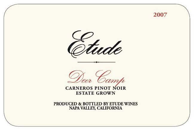 Etude Deer Camp Pinot Noir 2007 Front Label