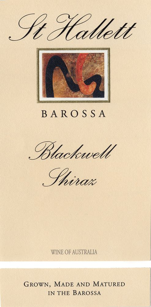 St Hallett Blackwell Shiraz 2007 Front Label