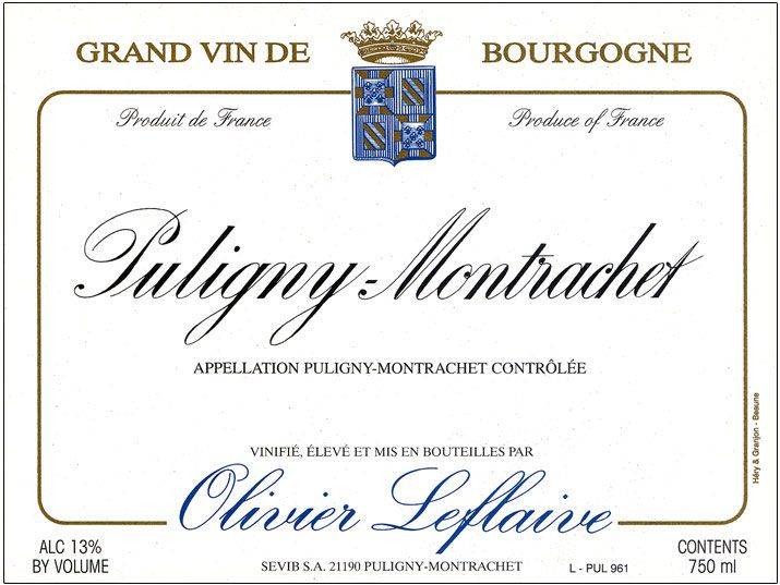 Olivier Leflaive Puligny Montrachet 2009 Front Label