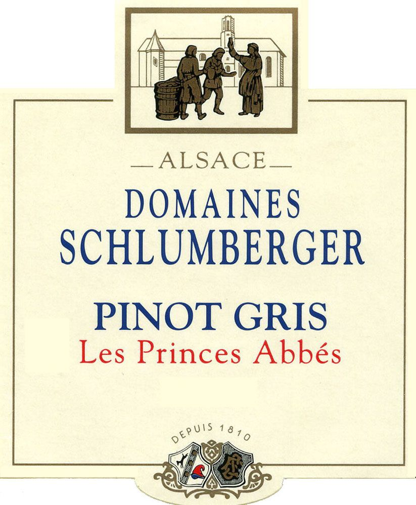 Domaines Schlumberger Les Princes Abbes Pinot Gris 2008 Front Label