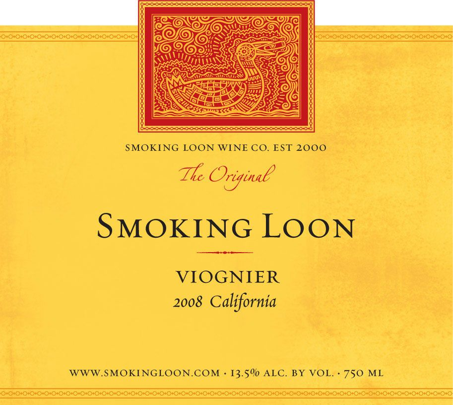 Smoking Loon Viognier 2008 Front Label