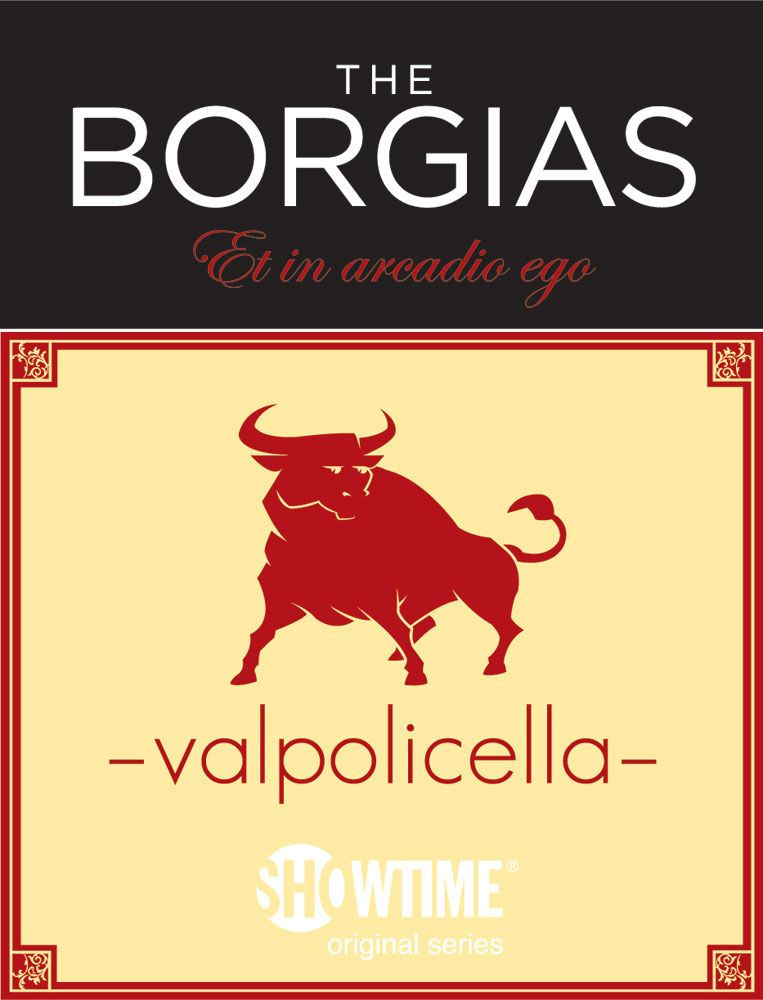 Borgias Valpolicella 2010 Front Label