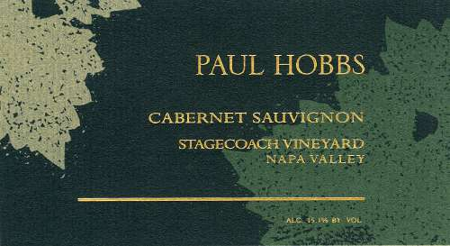 Paul Hobbs Stagecoach Vineyard Cabernet Sauvignon 2007 Front Label