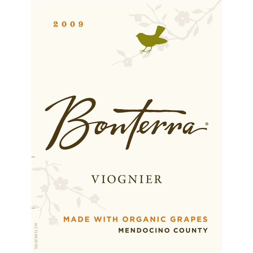 Bonterra Organically Grown Viognier 2009 Front Label
