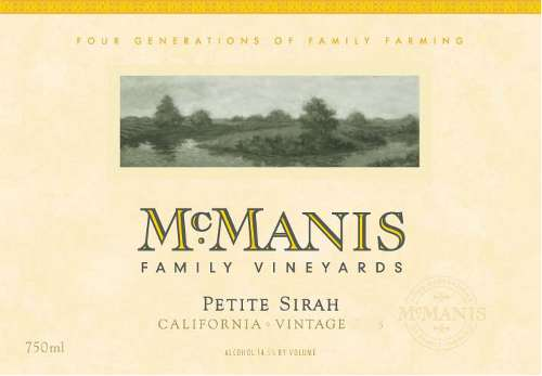 McManis Family Vineyards Petite Sirah 2009 Front Label