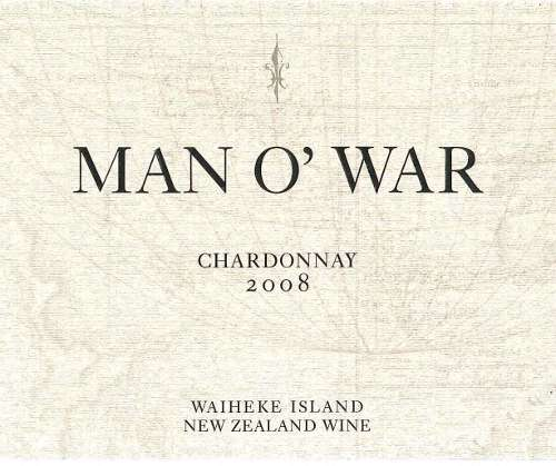 Man O' War Chardonnay 2008 Front Label