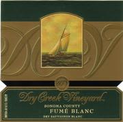 Dry Creek Vineyard Fume Blanc (half-bottle) 1999 Front Label