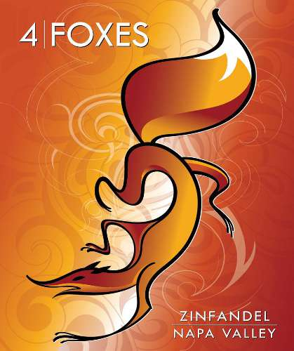 Wines 4 Cures 4 Foxes Napa Valley Zinfandel 2007 Front Label