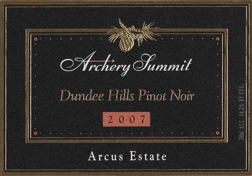 Archery Summit Arcus Pinot Noir 2007 Front Label