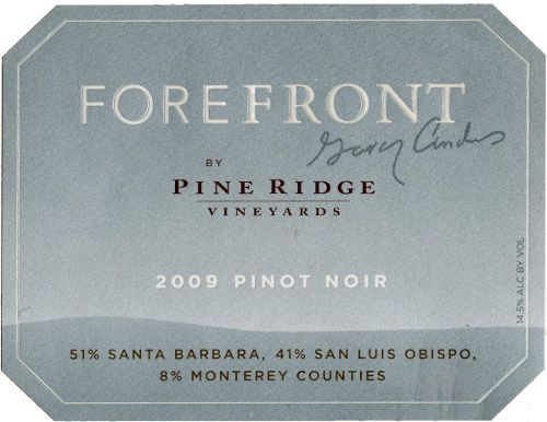 Forefront by Pine Ridge Pinot Noir Front Label
