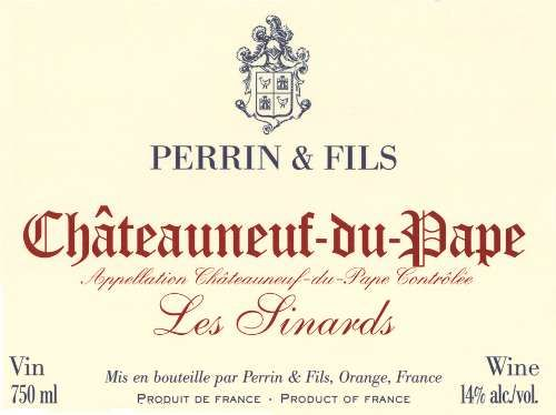 Famille Perrin Chateauneuf-du-Pape Les Sinards 2007 Front Label