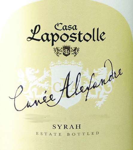 Lapostolle Cuvee Alexandre Syrah 2007 Front Label