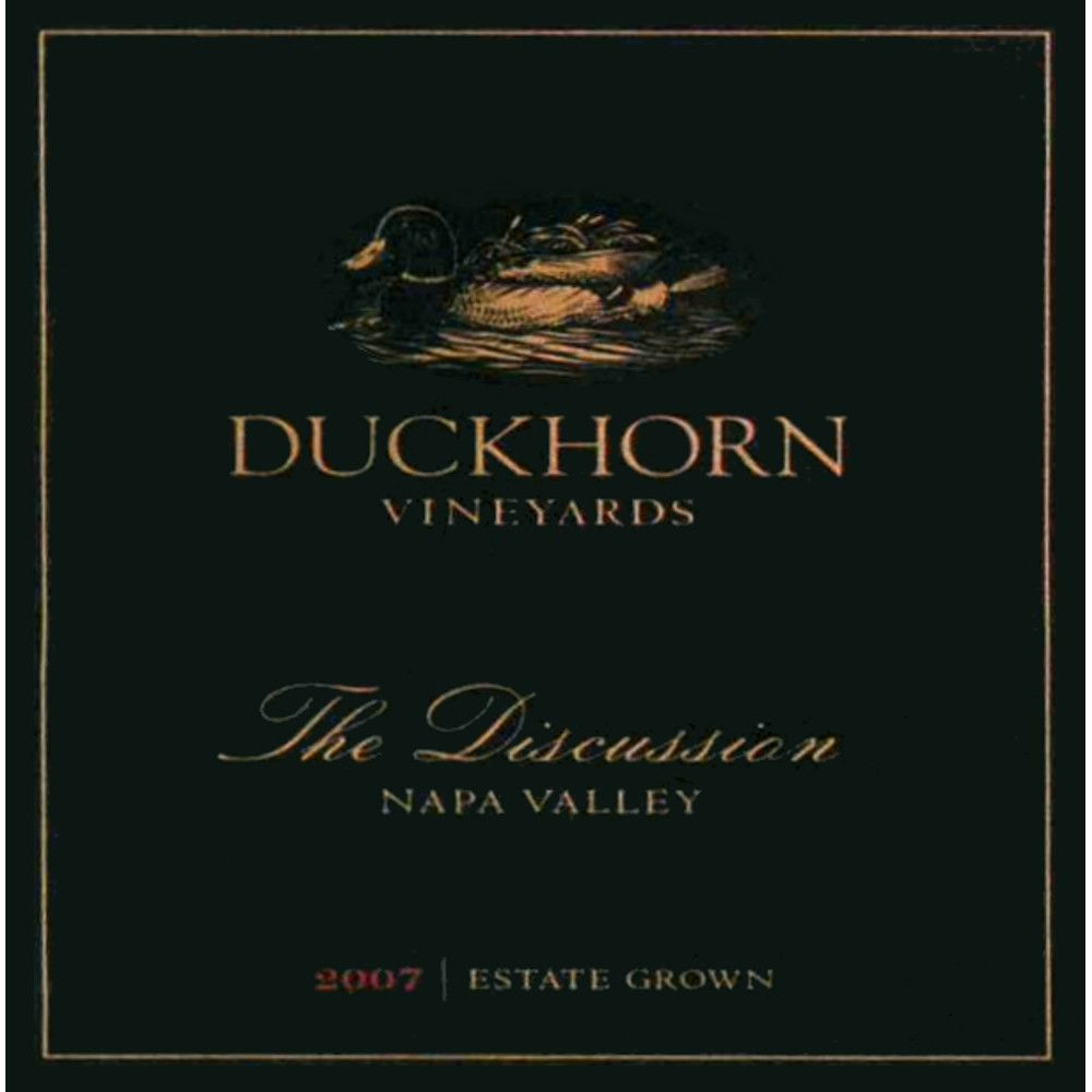 Duckhorn The Discussion 2007 Front Label
