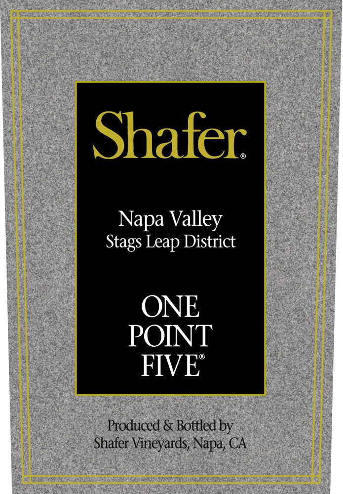 Shafer One Point Five Cabernet Sauvignon 2008 Front Label