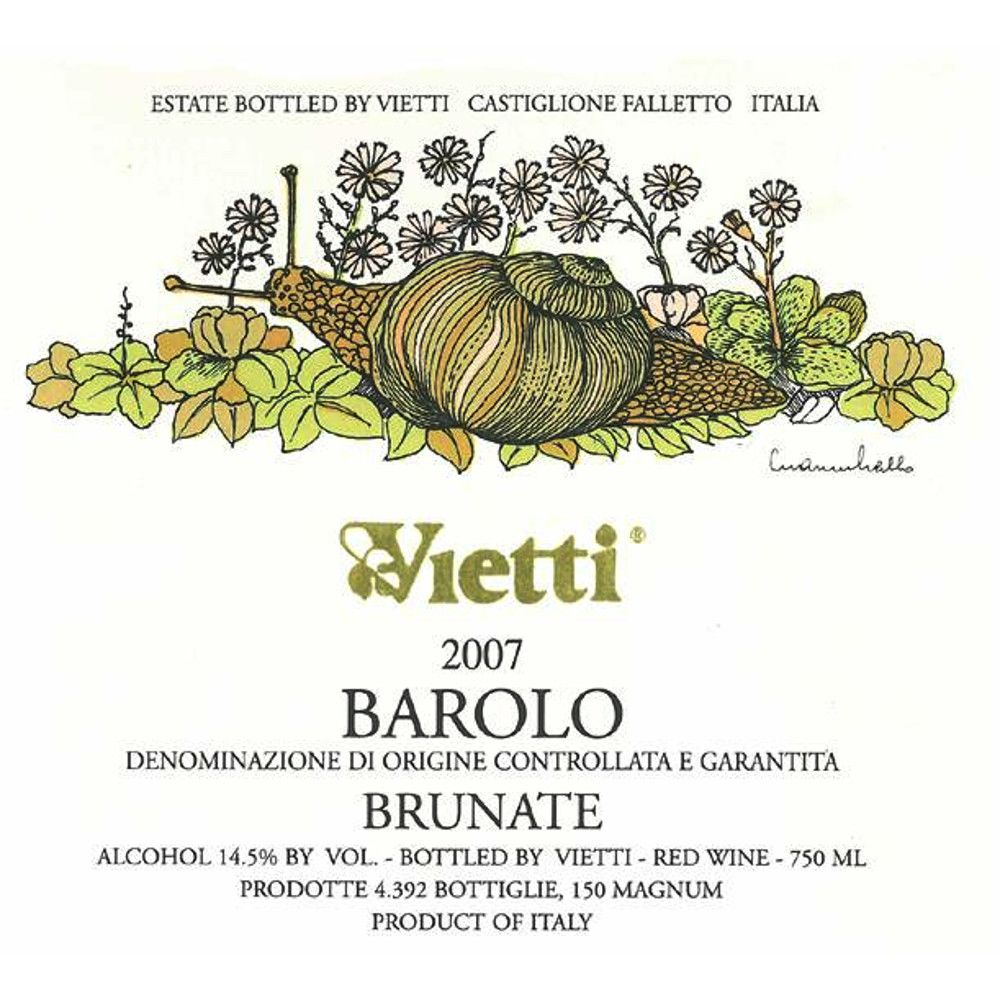Vietti Barolo Brunate 2007 Front Label