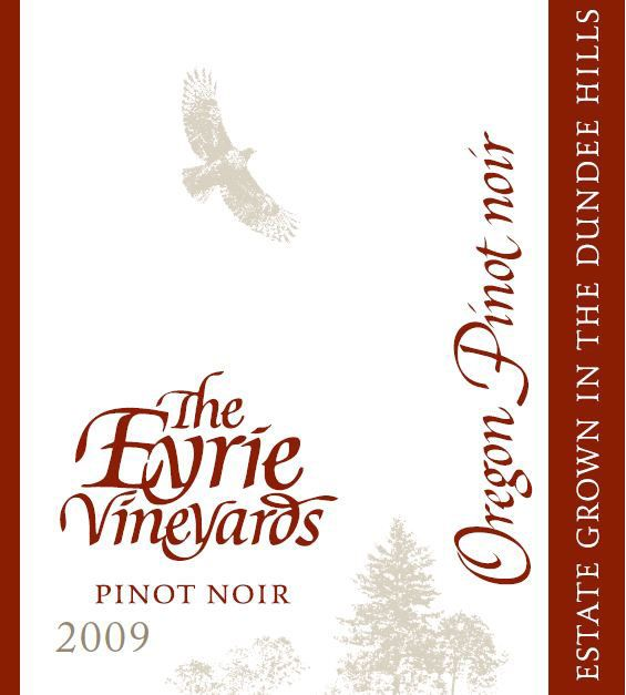 Eyrie Estate Pinot Noir 2009 Front Label