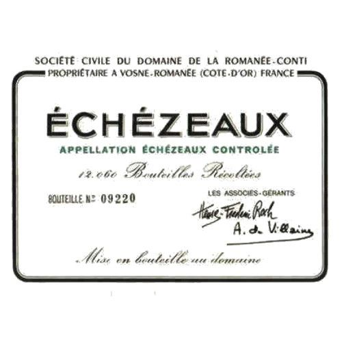 Domaine de la Romanee-Conti Echezeaux (stained label) 2008 Front Label