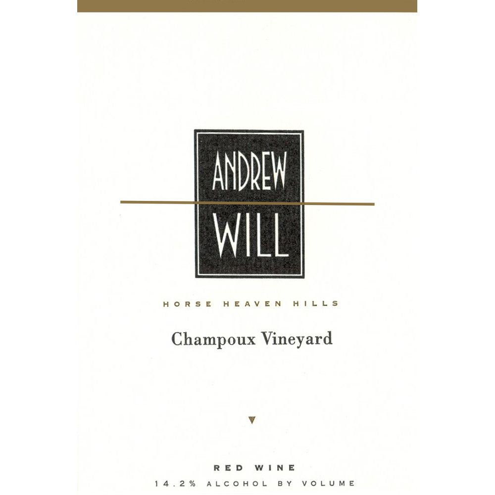 Andrew Will Winery Champoux Vineyard Horse Heaven Hills 2008 Front Label