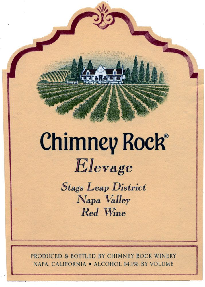 Chimney Rock Elevage Red 2007 Front Label