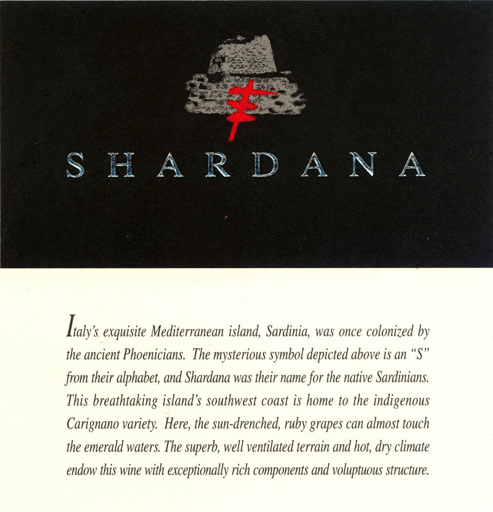 Shardana  2006 Front Label