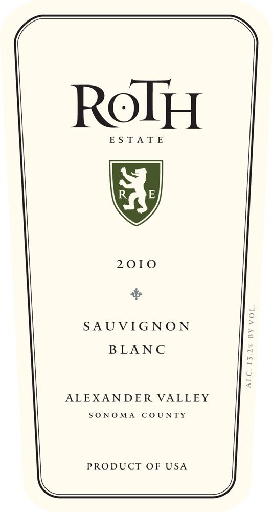 Roth Alexander Valley Sauvignon Blanc 2010 Front Label